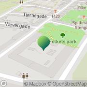 Kort Folkets Hus Spillefolk København, Danmark