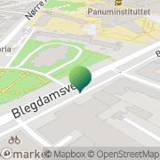 Kort Sankt Johannes Sogns Menighedssamfund København, Danmark