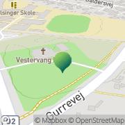Kort Vestervang Kirkes Kontor Helsingør, Danmark