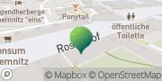 Karte GLS PaketShop Chemnitz, Deutschland