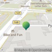 Karte Transporte Cottbus, Deutschland