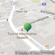 Karte Marktgemeinde Obdach Obdach, Österreich
