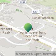 Karte Gemeindeamt Kirchberg an der Raab Kirchberg an der Raab, Österreich
