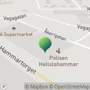 Karta Rikspolisstyrelsen, Närpolisområde Kolbäcksdalen Hallstahammar, Sverige