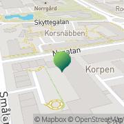 Karta Kalmar Läns FUB Förbund Kalmar, Sverige