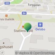 Karta Dellenbanans Vänner, Järnvägsföreningen Delsbo, Sverige