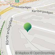 Karta BRF Karlberg 56 Stockholm, Sverige