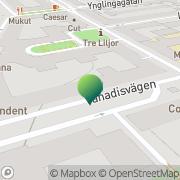 Karta Bostadsföreningen Hugin 8 och 9 U P A Stockholm, Sverige