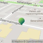 Karta Försvarsexportmyndigheten Stockholm, Sverige
