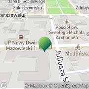 Mapa Urząd Pocztowy Nowy Dwór Mazowiecki 1 Nowy Dwór Mazowiecki, Polska