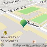 Kartta Vaasan kaupunki ammattikorkeakoulu kirjasto Vaasa, Suomi