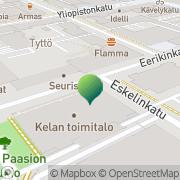 Kartta Kansaneläkelaitos Turun toimisto Turku, Suomi