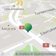 Kartta Psykologipalvelu Ylitalo Pertti Turku, Suomi