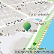 Kartta Turun kaupunginkirjasto pääkirjasto Turku, Suomi