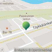 Kartta Turun kaupunginkirjasto Nummi Turku, Suomi