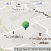 Kartta Kemiönsaaren kunta socialväsendet Taalintehdas, Suomi