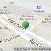 Kartta Etelä-Pohjanmaan Eurooppatiedotus Seinäjoki, Suomi