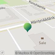Kartta Kokkolan kaupunki Koivuhaan kirjasto Kokkola, Suomi