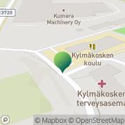 Kartta Kylmäkosken kunta Kylmäkosken kirjasto Kylmäkoski, Suomi