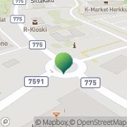 Kartta Kannuksen kaupunki tekninen osasto Kannus, Suomi