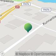 Kartta Pellon kunta tekninen toimi Pello, Suomi