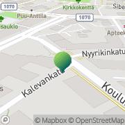 Kartta LOST sosiaali- ja terveydenhuollon yhteistoiminta-alue Lohja, Suomi