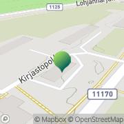 Kartta Lohjan kaupunginkirjasto Mäntynummen kirjasto Lohja, Suomi