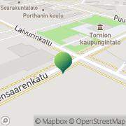 Kartta Tornion kaupunki sosiaalitoimisto Tornio, Suomi