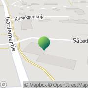 Kartta Sahalahden kunta / Sosiaalitoimi Sahalahti, Suomi
