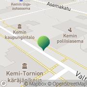 Kartta Liikkuva Poliisi  Kemin yksikkö Kemi, Suomi