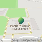 Kartta Mänttä-Vilppulan kaupunki tekninen toimi Mänttä, Suomi