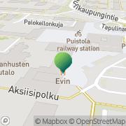 Kartta Helsingin kaupunginkirjasto Tapulikaupungin kirjasto Helsinki, Suomi