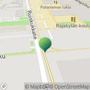Kartta Oulun kaupunki Rajakylän sosiaaliasema Oulu, Suomi