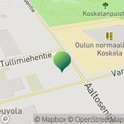 Kartta Oulun kaupunki Koskelan koulu Oulu, Suomi