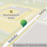 Kartta Oulun kaupunki Nuottasaaren koulu Oulu, Suomi