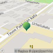 Kartta Oulun kaupunki Teuvo Pakkalan koulu Oulu, Suomi