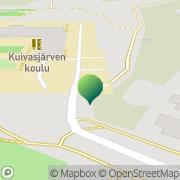 Kartta Oulun kaupunki Kuivasjärven koulu Oulu, Suomi