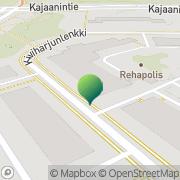 Kartta Oulun kaupunki liikuntavirasto liikuntapalvelut Oulu, Suomi