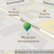 Kartta Oulun kaupunki Myllyojan neuvola Oulu, Suomi