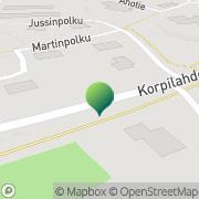 Kartta Jyväskylän kaupunki Korpilahden sosiaaliasema Korpilahti, Suomi
