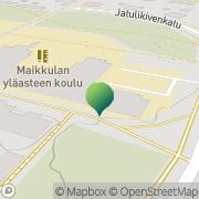 Kartta Oulun kaupunki Maikkulan koulu Oulu, Suomi