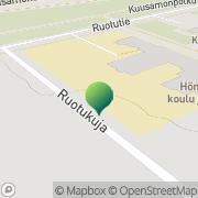 Kartta Oulun kaupunki Hönttämäen koulu Oulu, Suomi