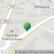 Kartta Sysmän kunta tekninen palvelukeskus Sysmä, Suomi