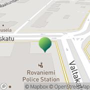 Kartta Liikkuva Poliisi Rovaniemen yksikkö Rovaniemi, Suomi