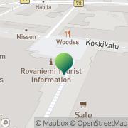 Kartta Kriminaalihuoltolaitos Pohjois-Suomen aluetoimisto Rovaniemen yksikkö Rovaniemi, Suomi