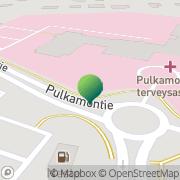Kartta Rovaniemen kaupunki Pulkamontien terveysasema Rovaniemi, Suomi
