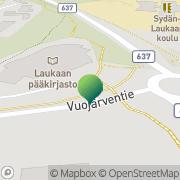 Kartta Laukaan kunta kunnankirjasto Laukaa, Suomi
