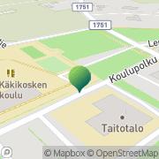 Kartta Lapinjärven kunta Hilda Käkikosken koulu Porlammi, Suomi