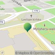 Kartta Loviisan kaupunki Myllyharjun lukio Loviisa, Suomi