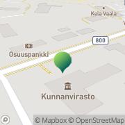 Kartta Vaalan kunta perusturva Vaala, Suomi
